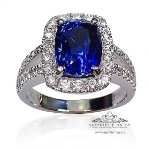 Blue vivid sapphire