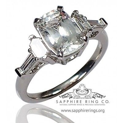 2.14 ct Untreated White Sapphire Ring