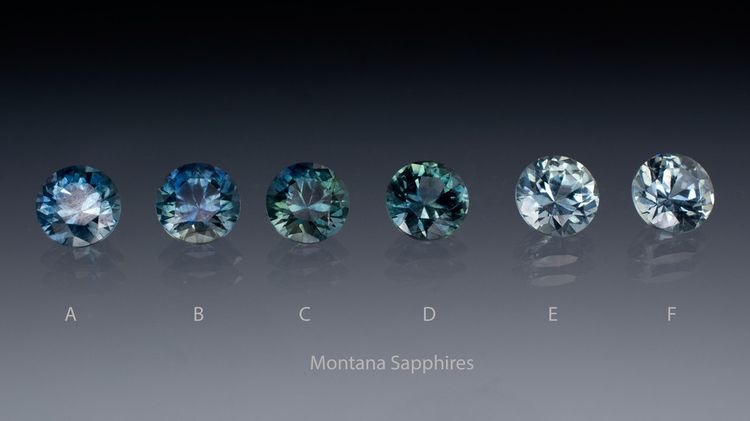 Typical colors with sapphires from Montana