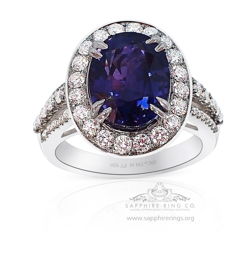 Untreated Color Change Sapphire Ring