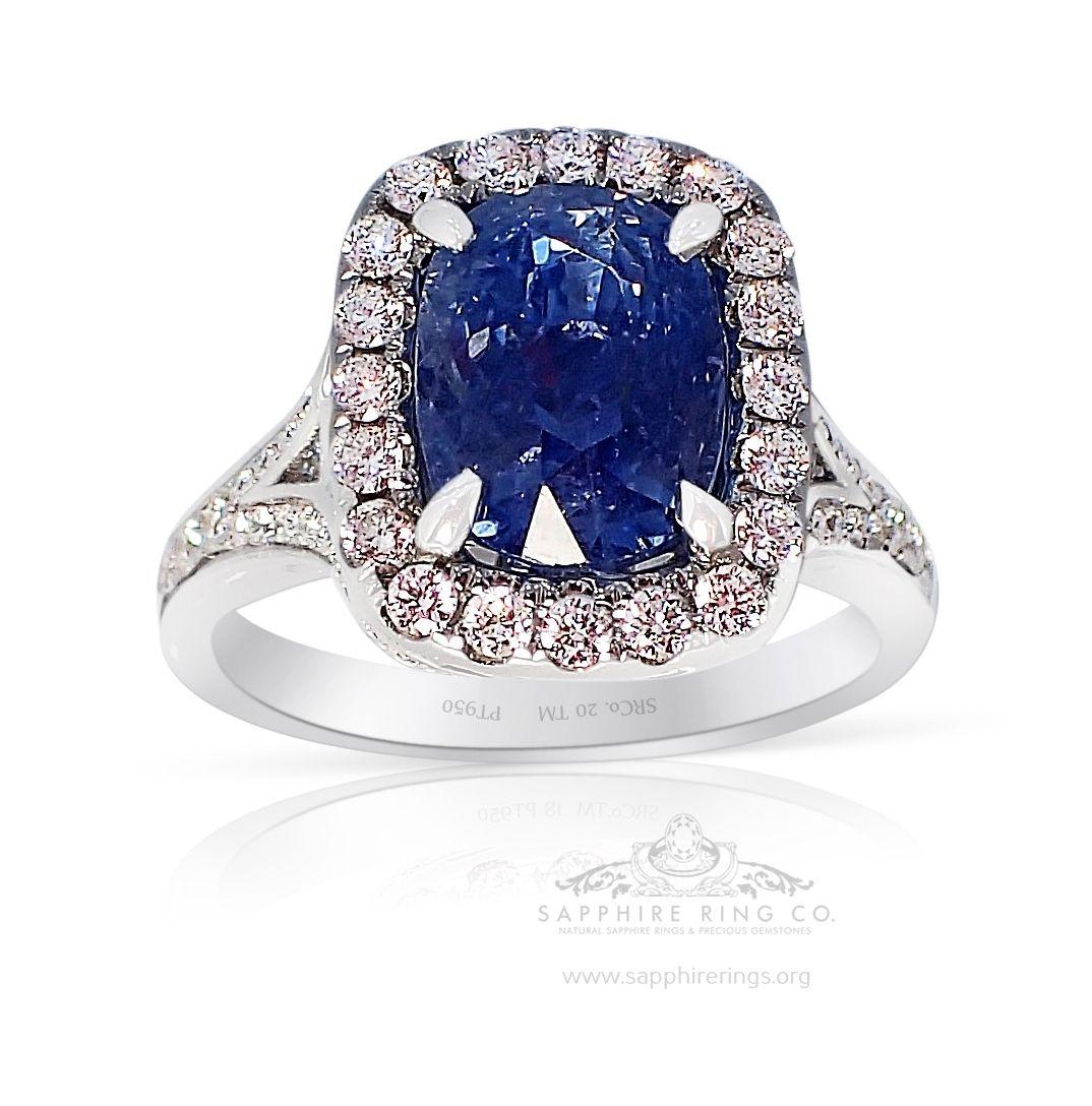 Ceylon Sapphire Ring, 4.21 Ct Untreated