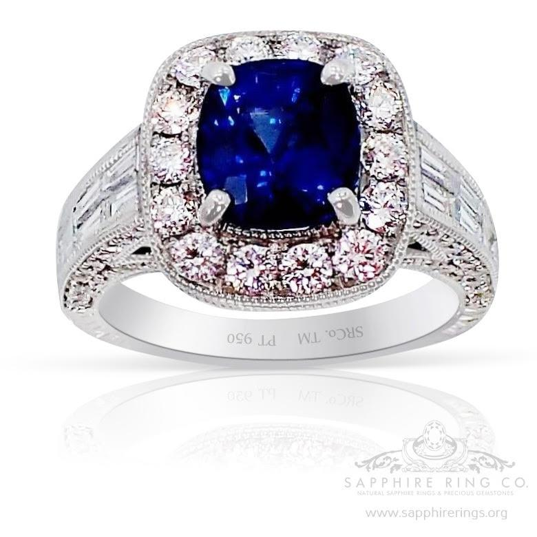 Blue-natural -sapphire ring