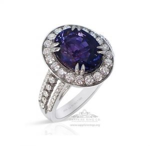 color change sapphire and diamond ring