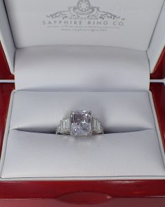 Untreated White Sapphire Ring