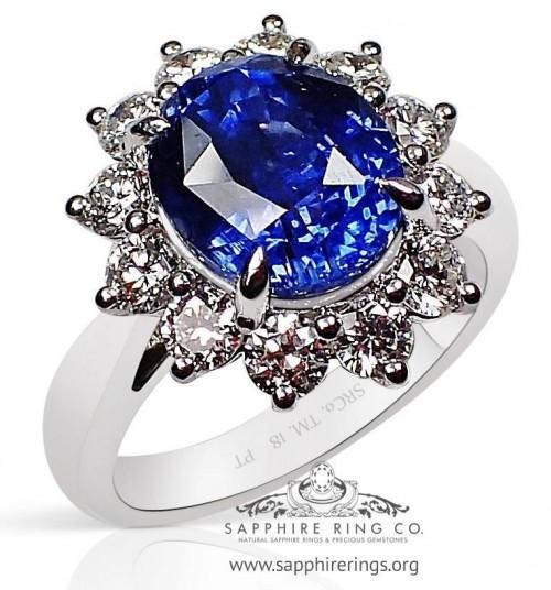 5.07 ct Untreated Platinum Sapphire Ring, GIA - 3192