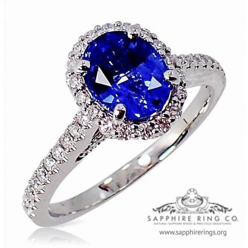 Custom Sapphire Ring, GIA 1.31 ct Blue Oval Cut Ceylon Natural Sapphire - $3,795.00