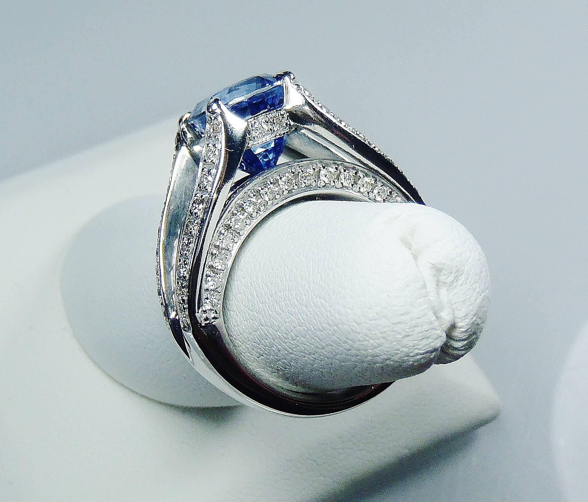 Certified Natural Kashmir Sapphire Ring