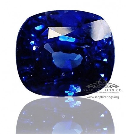 6.12 ct GIA Certified Natural Royal Blue Cushion Cut Sapphire - 612-18
