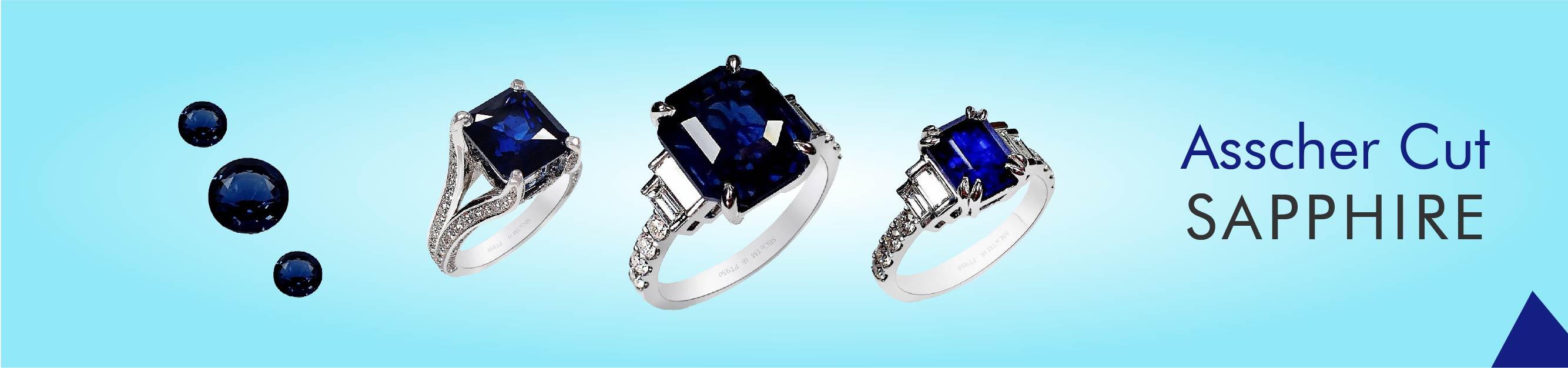 Asscher Cut Sapphires