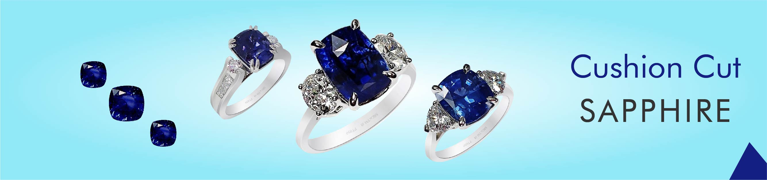 Cushion Cut Sapphires