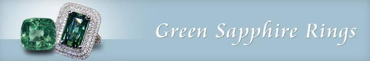 Green Sapphire Rings