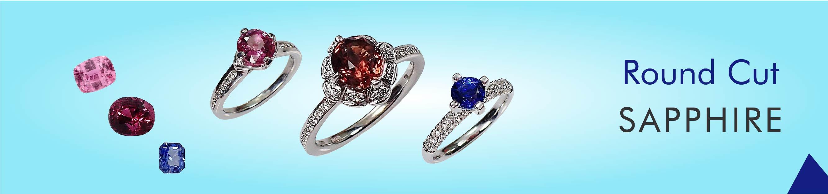 Round Cut Sapphires