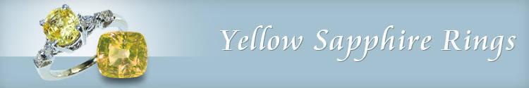 Yellow Sapphire Rings - Yellow Sapphire Engagement Ring