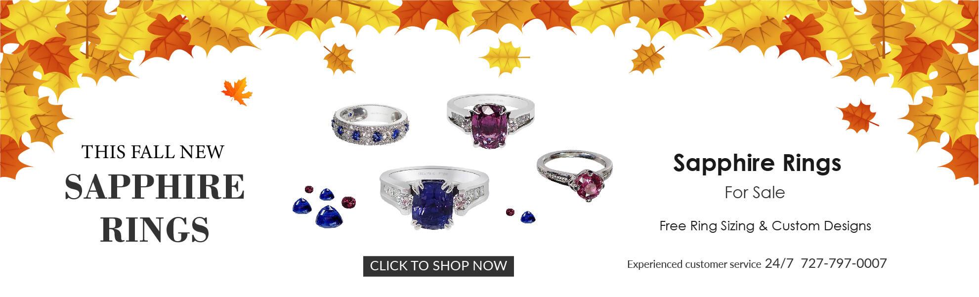 Fancy Sapphire Rings