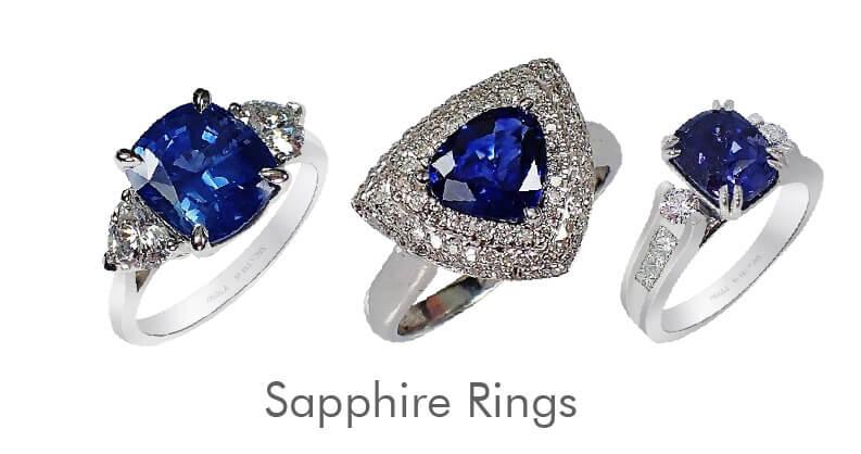 genuine sapphire rings